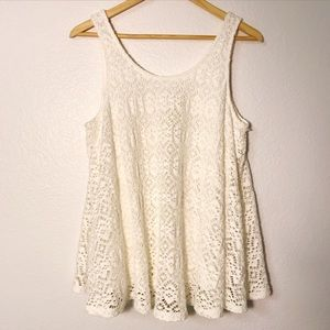 Anthropologie | Deletta Crochet Germain Swing Tank